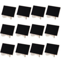 12 Pcs//set Mini Chalkboard Parties Memo holder Accessories Black board Wooden
