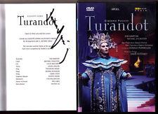 DVD Donald RUNNICLES Signed PUCCINI TURANDOT Eva Marton Sylvester Mazzaria 1984