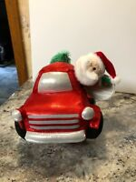 NEW Gemmy Animated Musical  Santa Christmas Pick Up Truck Wobbler HOLIDAY ROAD