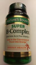 Nature's Bounty Super B-complex with Folic Acid + Vitamin C 150 Coated Tablets