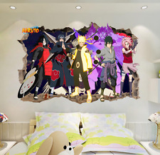 Naruto Japanese Amine Comic 3D Window Wall Stickers Vinyl Decal Home Bedroom