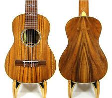 Alulu sólido Acacia koa barítono guitarlele puntos embutido duro caso Hu 1472 @