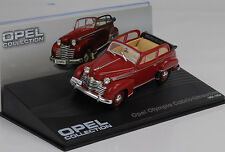 1951 - 1953 Opel Olympia Cabrio-Limousine Red/Red 1:43 IXO Altaya Collection