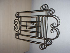 Wrought iron music/book or picture holder