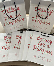 2015 Avon Paper Bags 'Beauty for a Purpose' 'Belleza por un Proposito' Lot Of 8