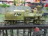 PFM UNITED  HO BRASS 2 TRUCK LOGGING CLIMAX LOCOMOTIVE  UN FINISHED  TESTED RUNS