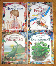 Lot 4 HOW IT WORKS Environment Flight Prehistory Human Body VGC Childrens Books