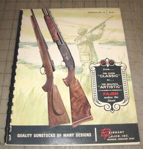 1972 REINHART FAJEN Quality Gunstocks Retail Catalog - Great Graphics & Resource