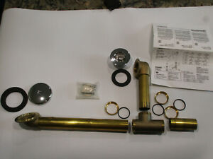 Price Pfister Waste Drain & Overflow with Chain Stopper Chrome & Brass Series 17