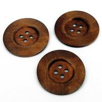 Huge Giant Clown bag coat wood Buttons 6cm  choose from 6 colours B13