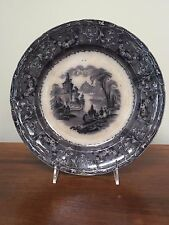 Antique TJ & J Mayer RHONE SCENERY Dinner Plate circa 1842