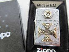 Zippo Vintage Cross Skull Eisernes Kreuz Bullet 1932 Iron Lighter Emblem OVP