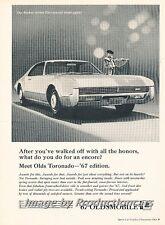 1967 Oldsmobile Toronado Original Advertisement Print Art Car Ad J805