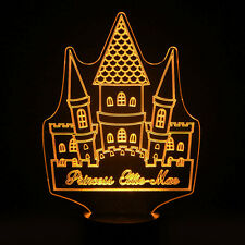 Princess Fairy Tale Castle Personalised 7 Colour LED Night Light Birthday Gift