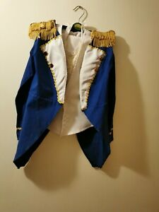 "#68 ex hire boys admiral sailor fancy dress costume outfit cosplay 28-30"" chest"