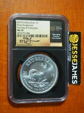 2019 SOUTH AFRICA SILVER KRUGERRAND NGC MS70 FIRST DAY OF PRODUCTION TUMI SIGNED