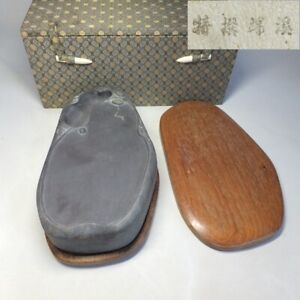 D0883: Chinese sculptured ink stone of popular TANKEI with appropriate seal