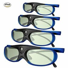 4X Active Shutter 3D Glasses for 3D Projector Sony Optoma Samsung DLP US