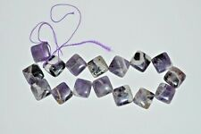 """Jewelry Television 20X6mm Amethyst Flat Square Beads 15"""" strand JLW936-16 New!"""