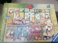 Ravensburger 1000 Piece Jigsaw Puzzle  Crazy Cats In The Garden Room Linda Smith