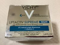 Vichy Liftactiv Supreme Anti-Wrinkle and Firming Care Night Cream 1.69 oz - New