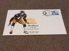 COMMEMORATIVE ENVELOPE - PITTSBURGH STEELERS MEL BLOUNT FIRST DAY ISSUE HOF 1989