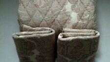Pottery Barn Audrey Paisley Print King Quilt 2 King Shams Pink Mauve Ivory New