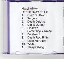 (FR524) Hazel Winter, Death Row Bride - 2003 DJ CD