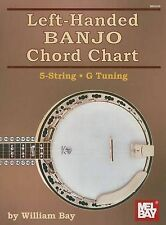 NEW Left-Handed Banjo Chord Chart 5-String G Tuning by William Bay