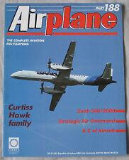 Airplane Issue 188 Curtiss Hawk Biplane Cutaway drawing & poster, Saab 340/2000