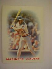 1986 Topps Seattle Mariners Team Set With Traded Cards