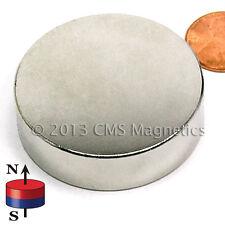 "Neodymium Magnets N45 Dia1.75x0.5"" Powerful  NdFeB Rare Earth Magnets 1 PC"
