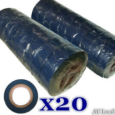 20pcs Blue PVC Electrical Insulation Tape Insulating 0.13x18mm 18m TTAPE0102X20