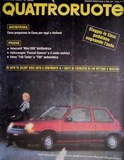 Quattroruote 351 1985 Prove Innocenti Mini 650 bicilindrica, Passat Syncro Q.60