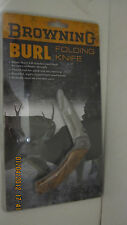 Browning Burl Folding Knife 322464  023614086574 440 Stainless Steel Blade New