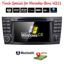 "for Mercedes-Benz W211 W219 E350 7"" GPS Car DVD Radio Player Stereo Bluetooth"