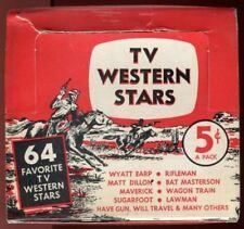 Tv Western Stars Empty Vintage Card Box