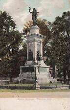 Antique POSTCARD c1905-07 Soldiers Monument WATERBURY, CT 16550