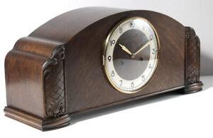 Kaminuhr mit Uhrwerk Pfeilkreuz W 77 (ähnl. Junghans W 278) Tischuhr vintage