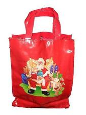 Harrods Red PVC Santa Claus Teddy Bears Shopping Bag Sack Holiday Christmas