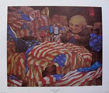 Charles Bragg THE FLAG FACTORY Facsimile Signed 1970 Color Lithograph Art