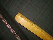 """2.38 yd HOLLAND SHERRY WOOL Snowy River Super 100s Suiting Fabric 9 oz 86"""" BTP"""