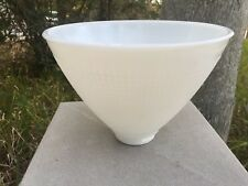 8 by 5.75 Torchiere Milk Glass Lamp Diffuser Shade for Stiffel Rembrandt Lamps