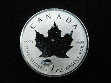 2015 1 oz Silver Maple Leaf Proof Coin $5 CANADA E=mc2 Privy Mark 9999 Fine Ag