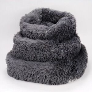 Long Plush Dog Beds For Large Dogs Pet Products Cushion Soft for Anti Anxiety