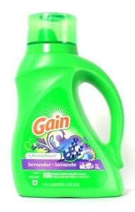 1 Bottle Gain 50 Oz Aroma Boost Lavender Liquid Detergent 32 Loads