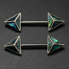 Nipple Rings Piercing Women Shell Triangle Nipple Rings 316L Surgical Steel