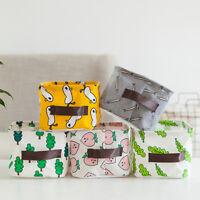 Foldable Storage Closet Box Container Organizer Cotton And Linen Basket Case Bag