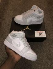 Nike Air Jordan 1 Mid Gris Camo Blanco GS UK3.5 | US4Y |