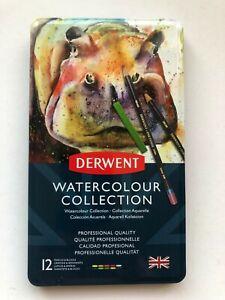Derwent Watercolour Collection Sampler Kit Painting & Drawing Set 12 Item Set